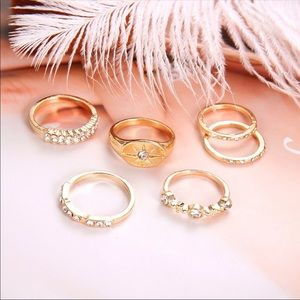 NEW BOHEMIAN GOLD MIDI KNUCKLE RING SET